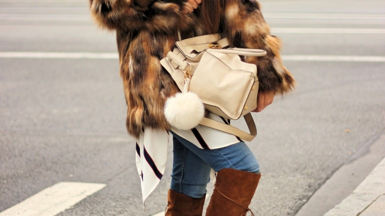 Munich Streetstyle w/ Zara Faux Fur Coat and Boots