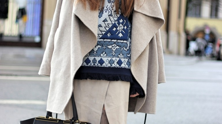 Munich Streetstyle w/ Tory Burch Sweater, Fendi 3jours Bag and Overtheknee Boots