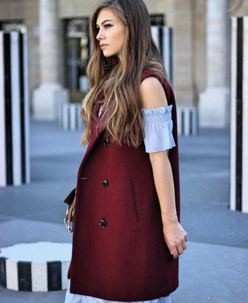 Paris Streetstyle w/ Chloé Faye Bag, Self-Portrait Dress and Valentino Rockstud Heels